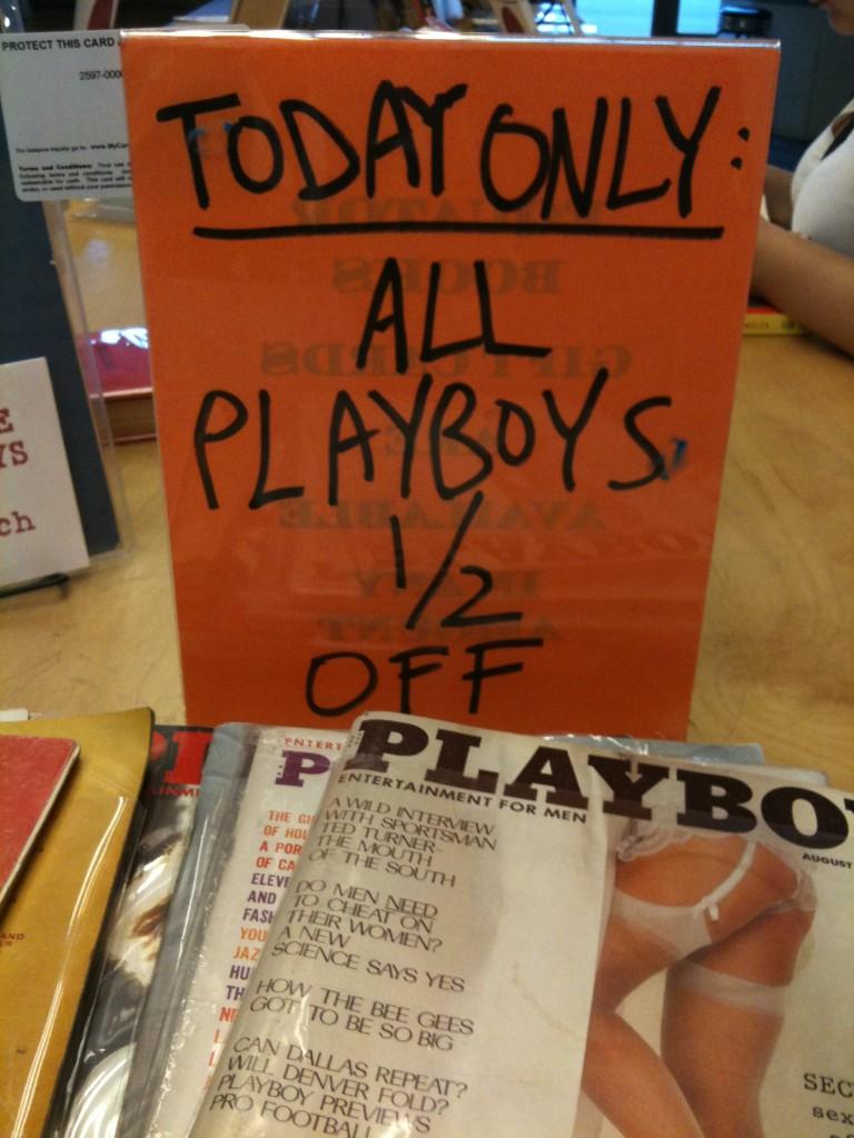 playboys 1/2 off